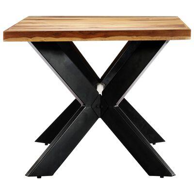 vidaXL Table de salle à manger 180x90x75 cm Bois de Sesham solide, Brown