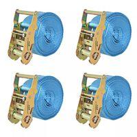 vidaXL Sangle d'arrimage 4 pcs 2 tonnes 6 m x 38 mm Bleu