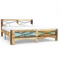 vidaXL Cadre de lit Bois de récupération massif 180 x 200 cm