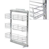 vidaXL Panier à 3 niveaux métallique de cuisine 47x15x56 cm