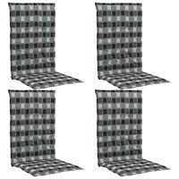 vidaXL Coussins de chaise de jardin 4 pcs Multicolore 120x50x3 cm