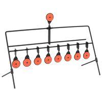 vidaXL Cible de tir avec réinitialisation automatique et 8+1 cibles