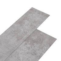 vidaXL Planches de plancher PVC 5,26 m² 2 mm Gris terre