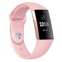 Bracelet en silicone Fitbit Charge 3 - rose - S