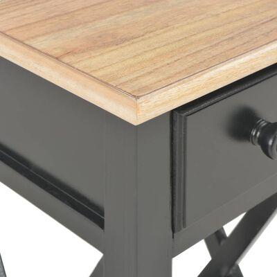 vidaXL Table d'appoint Noir 27 x 27 x 65,5 cm Bois