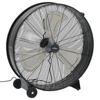 vidaXL Ventilateur à tambour industriel 77 cm 180 W Noir