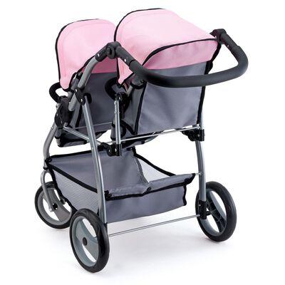 Bayer Landau pour poupée Twins Gris et Rose 26508AA