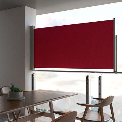 vidaXL Auvent latéral rétractable de patio 120x300 cm Rouge