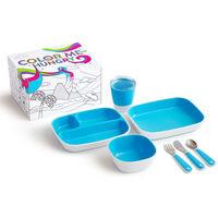 Munchkin Ensemble de vaisselle à manger 7 pcs Color Me Hungry Bleu
