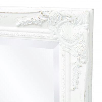vidaXL Miroir mural Style baroque 100 x 50 cm Blanc