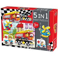 King 5-in-1 Puzzle Voitures