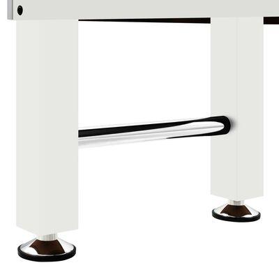 vidaXL Baby-foot Acier 60 kg 140x74,5x87,5 cm Blanc