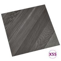 vidaXL Planches de plancher autoadhésives 55 pcs PVC 5,11 m² Gris rayé