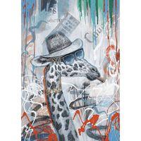 Peinture Sur Toile Girafe - The Boss