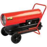 Perel Appareil de chauffage d'espace Diesel 30 kW Rouge FT130C