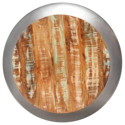 vidaXL Table basse Gris 68x68x30 cm Bois de récupération solide