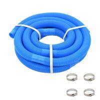 vidaXL Tuyau de piscine avec colliers de serrage Bleu 38 mm 6 m