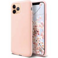 Coque en silicone liquide iPhone 11 Pro Max - rose clair