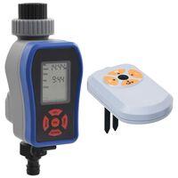 vidaXL Minuterie d'arrosage numérique à sortie et capteur d'humidité