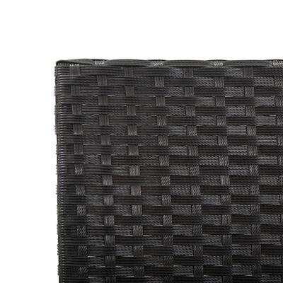 vidaXL Banc de jardin avec coussins 176 cm Noir Résine tressée