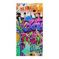 Good Morning Serviette de plage GRAFFITY 75x150 cm Multicolore