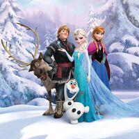 Komar Photo mural Frozen Winterland 184x254 cm Bleu,