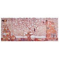 vidaXL Ensemble de tableau sur toile Arbre Jaune 200x80 cm