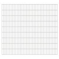 vidaXL Panneaux de clôture de jardin 2D 2,008x1,83m 30 m total Argenté