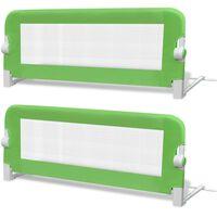 vidaXL Barrière de lit de sécurité pour tout-petits 2pcs Vert 102x42cm