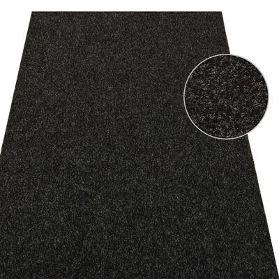 vidaXL Gazon artificiel avec picots 10x1 m Anthracite