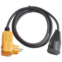 Brennenstuhl Câble adaptateur de protection 2 m Noir