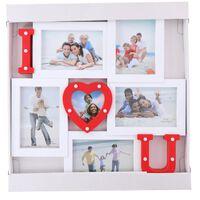 Arti Casa Cadre I Love You - 13 LED - 5 photos 15 x 10-43 x 40 cm