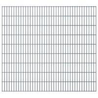 vidaXL Panneau de clôture de jardin 2D 2,008x1,83 m Gris