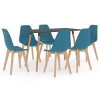 vidaXL Ensemble de salle à manger 7 pcs Turquoise