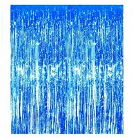 Rideau pailleté festif bleu 1x2 mètres