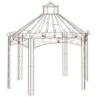 vidaXL Pavillon de jardin Marron antique 400x258x378 cm Fer