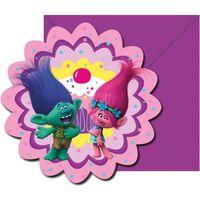 DREAMWORKS - Trolls Poppy invitations 6-pack pour les parties
