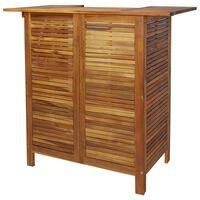 vidaXL Table de bar 110 x 50 x 105 cm Bois d'acacia massif