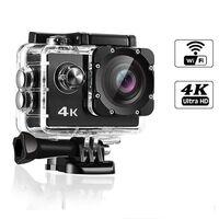 Caméra d'action WiFi 4K avec accessoires