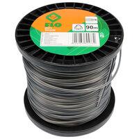 FLO Fil de coupe-herbe Trigon 2,4 mm 90 m Noir