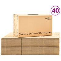 vidaXL Boîtes de déménagement Carton XXL 40 pcs 60x33x34 cm