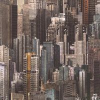 Noordwand Papier peint Skyscrapers Marron