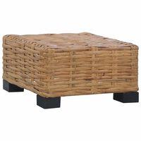 vidaXL Table basse 47x47x28 cm Rotin naturel