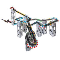 Marble Racetrax Ensemble de circuit à billes 32 feuilles 5 m