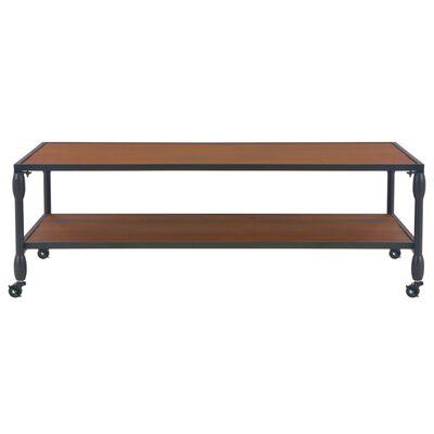 vidaXL Table basse avec étagère 120x60x40 cm Bois de sapin massif