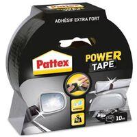 Adhésif super-puissant Power Tape Noir - 10 m x 50 mm - PATTEX