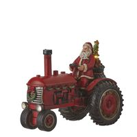 Luville  - Santa on tractor red battery operated