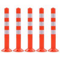 vidaXL Borne de contrôle du trafic 5 pcs Plastique 75 cm