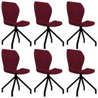 vidaXL Chaises de salle à manger 6 pcs Rouge bordeaux Similicuir