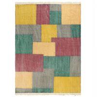 vidaXL Tapis tissé à la main Coton 160x230 cm Imprimé Multicolore
